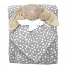 T20699: Baby Unisex Bunny Comforter & Blanket