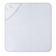 T20715: Baby White Elephant Hooded Towel/Robe