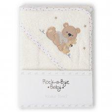 T20716: Baby Cream Bear Hooded Towel/Robe