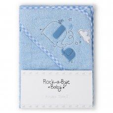 T20717: Baby Sky Elephant Hooded Towel/Robe
