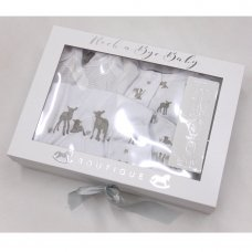 T20748: Baby Unisex Lambs 5 Piece Set In A Gift Box (0-3 Months)