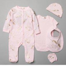 T20768: Baby Girls Unicorn 6 Piece Mesh Bag Gift Set (NB-6 Months)