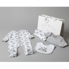 T20775: Baby Unisex Panda 6 Piece Mesh Bag Gift Set (NB-6 Months)