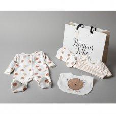 T20778: Baby Unisex Happy Bear 6 Piece Mesh Bag Gift Set (NB-6 Months)