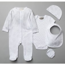 T20782: Baby Unisex Bunnies 6 Piece Mesh Bag Gift Set (NB-6 Months)