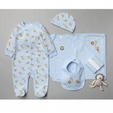 T20809: Baby Boys Jungle 10 Piece Mesh Bag Gift Set (NB-6 Months)