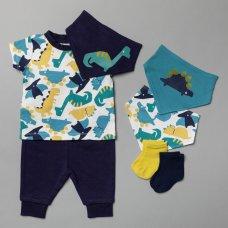 T20812:  Baby Boys Dinosaur 7 Piece Set (0-18 Months)