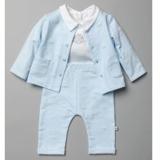 T20820: Baby Boys Royal Baby 3 Piece Outfit (0-9 Months)