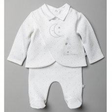 T20823: Baby Unisex Quilted 3 Piece Outfit (0-9 Months)
