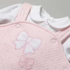 T20827: Baby Girls Quilted 2 Piece Outfit (0-9 Months)