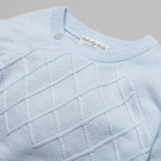 T20856: Baby Boys Cable Knitted 2 Piece Outfit (0-9 Months)