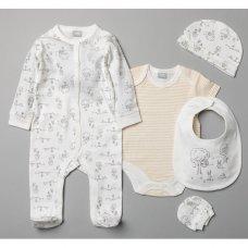 T20858: Baby Unisex Cream 6 Piece Mesh Bag Gift Set (NB-6 Months)