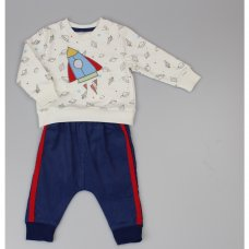 WF1770: Baby Boys Rocket Top & Cord Pant Outfit (0-9 Months)