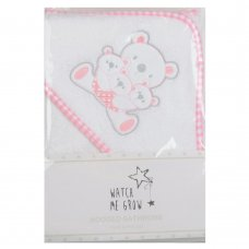H1974: Baby Girls Teddy Hooded Towel/Robe