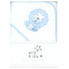 J1761: Baby Boys Lion Hooded Towel/Robe