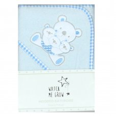 K1706: Baby Blue Teddy Hooded Towel/Robe