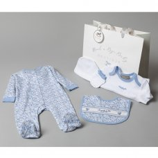 V20958: Baby Girls Floral 6 Piece Mesh Bag Gift Set (NB-6 Months)