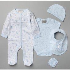 V20965: Baby Boys Space 6 Piece Mesh Bag Gift Set (NB-6 Months)