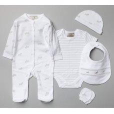 V20971: Baby Unisex Sheep 6 Piece Mesh Bag Gift Set (NB-6 Months)