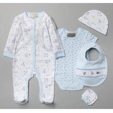 V20984: Baby Boys Planes 6 Piece Mesh Bag Gift Set (NB-6 Months)