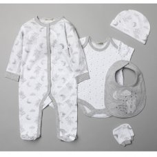 "V20992: Baby Unisex ""Catch A Falling Star"" 6 Piece Mesh Bag Gift Set (NB-6 Months)"
