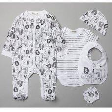 V21001: Baby Unisex Jungle 6 Piece Mesh Bag Gift Set (NB-6 Months)