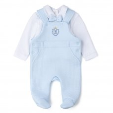 V21066: Baby Boys Quilted 2 Piece Outfit (0-6 Months)