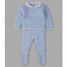 V21081: Baby Boys Knitted 2 Piece Outfit (0-9 Months)