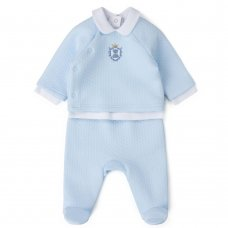 V21143: Baby Boys Quilted 3 Piece Outfit (0-9 Months)