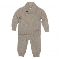 V21237: Baby Boys Knitted 2 Piece Outfit (0-12 Months)