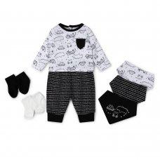V21442:  Baby Boys Animals 7 Piece Set (0-18 Months)