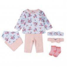 V21443:  Baby Girls Floral 7 Piece Set (0-18 Months)
