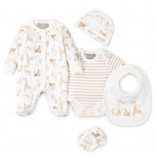 V21461: Baby Unisex Animals 6 Piece Net Bag Gift Set (NB-6 Months)