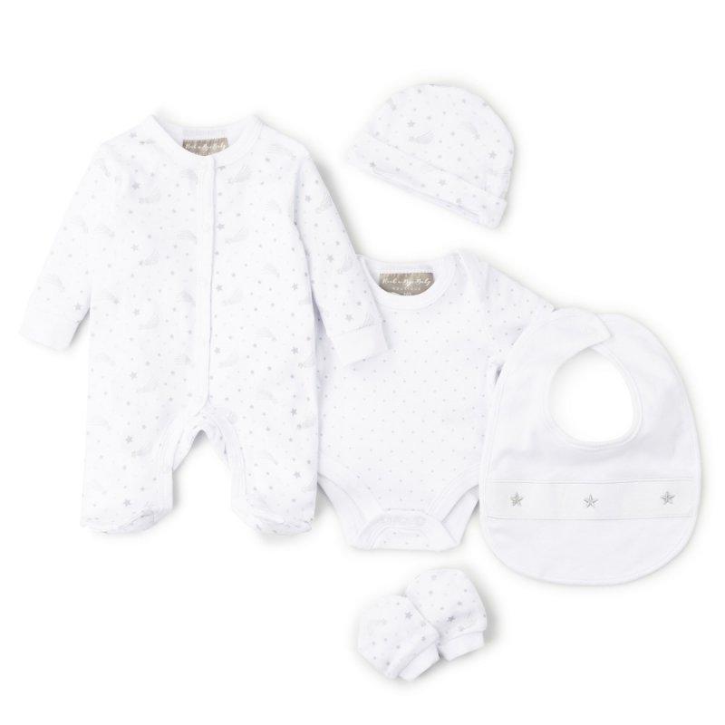 V21473: Baby Unisex Stars 6 Piece Net Bag Gift Set (NB-6 Months)
