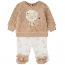 V21536:  Baby Unisex Lion Fur Top & Trouser Outfit (0-9 Months)