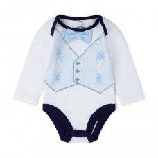 V21560:  Baby Boys Bowtie Bodysuit, Trouser & Sock Outfit (0-12 Months)