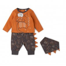 V21626:  Baby Boys Dinosaur 3 Piece Outfit (0-12 Months)