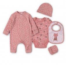 V21629: Baby Girls AOP Organic Cotton 5 Piece Set (NB-6 Months)