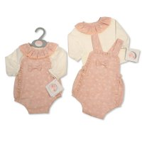 BIS-2020-2329: Baby Girls 2 Piece Outfit With Bow (NB-6 Months)