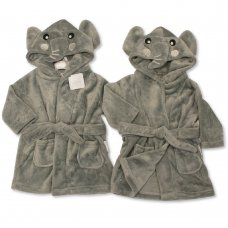 BIS-2020-2344: Baby Elephant Hooded Dressing Gown (3-24 Months)
