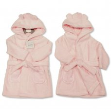 BIS-2020-2345: Baby Pink Hooded Dressing Gown (3-24 Months)