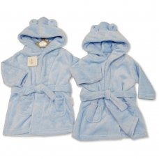 BIS-2020-2346: Baby Sky Hooded Dressing Gown (3-24 Months)