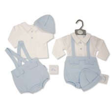 BIS-2020-2429: Baby Boys 3 Piece Outfit (NB-6 Months)