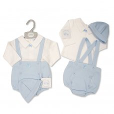 BIS-2020-2431: Baby Boys 3 Piece Outfit (NB-6 Months)
