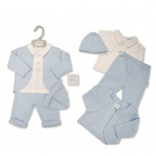 BIS-2020-2432: Baby Boys 4 Piece Outfit (NB-6 Months)