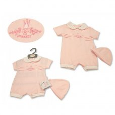 BIS-2100-2274: Baby Girls Romper with Hat - Princess (NB-6 Months)