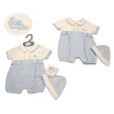 BIS-2100-2279: Baby Boys Romper with Hat - Dino (NB-6 Months)