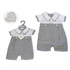 BIS-2100-2310: Baby Boys Stripe Romper  (NB-6 Months)