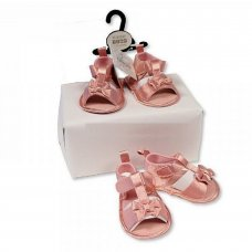 BSS-116-483: Baby Girls Sandals - Bow (0-12 Months)