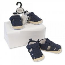 BSS-116-490: Baby Boys Sandals - Navy (0-12 Months)